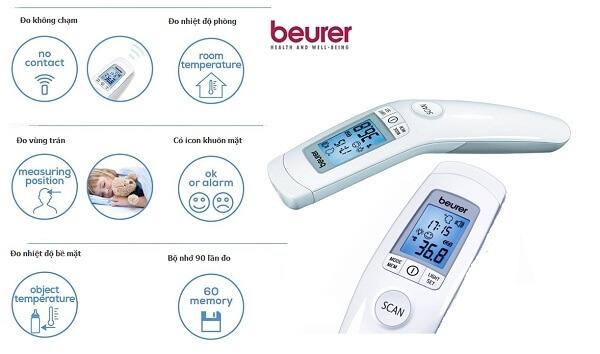 Các sản phẩm nhiệt kế điện tử từ Beurer được tích hợp nhiều tính năng
